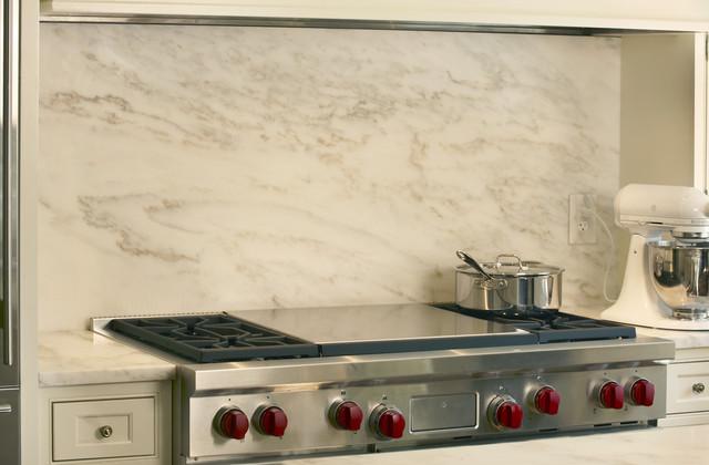 Modern Kitchen Marble Backsplash : ... Marble Backsplash - Contemporary - Tile - st louis - by Global Granite