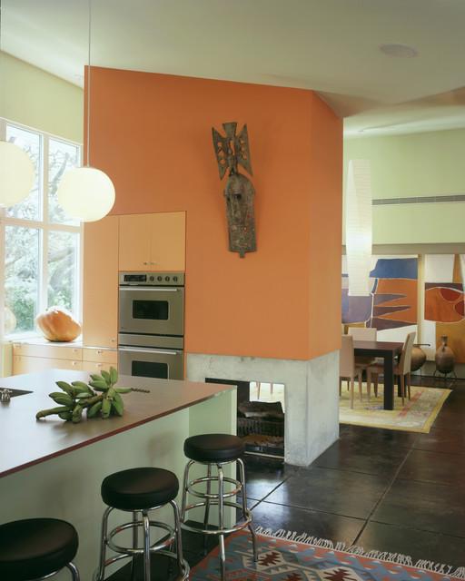 Impluvium House midcentury-kitchen