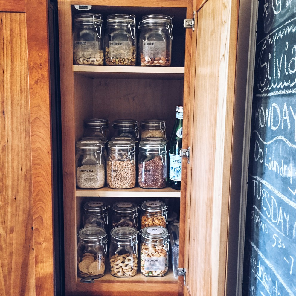 In-cabinet pantry makeover - Traditional kitchen - Oakland ...
