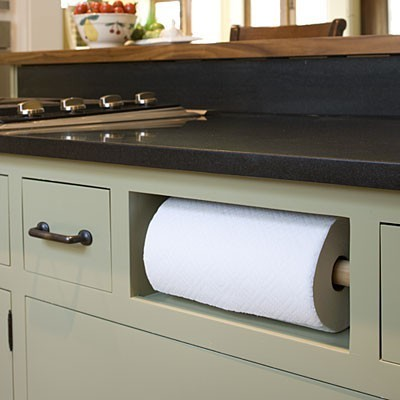 In Cabinet Paper Towel Holder Traditional Kitchen