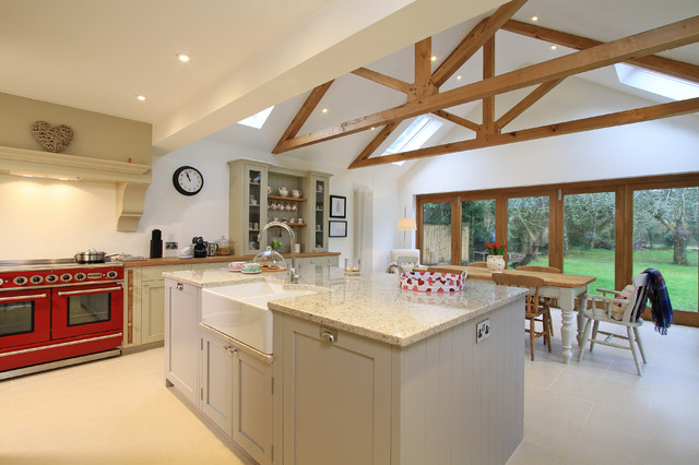 white and grey traditional kitchen. inframe painted shaker kitchen in pavilion grey u0026 old white traditional and