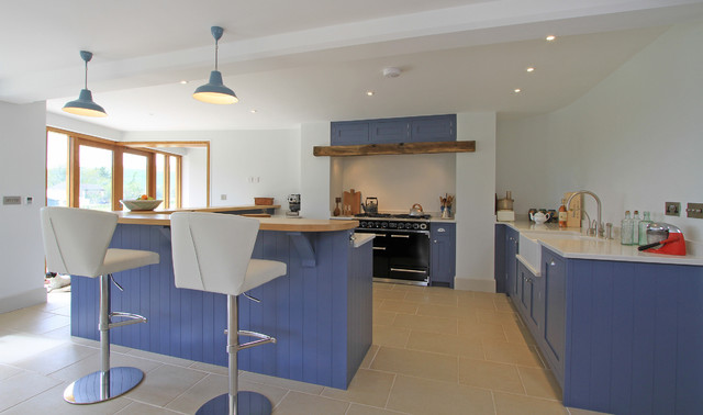 In Frame Shaker Kitchen In Juniper Ash Blue American Traditional Kitchen Hampshire By Bp Kitchens Interiors