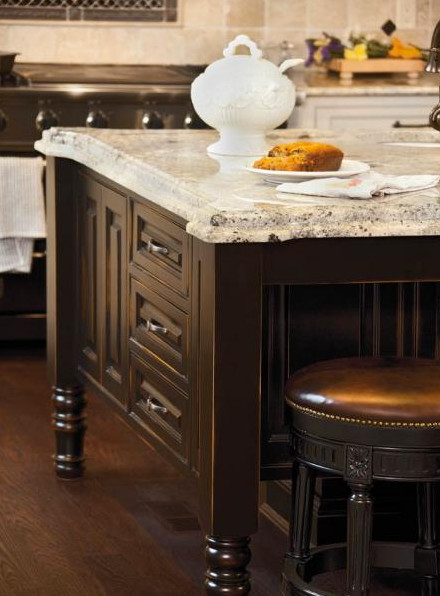 kitchen cabinets black indian hill chateau traditional kitchen cincinnati 2892