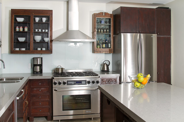 Indian inspired solid wood kitchen cabinets asian kitchen for Asian inspired kitchen cabinets