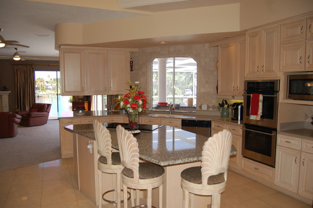 Indian river isles occupied home traditional kitchen for Traditional indian kitchen pictures