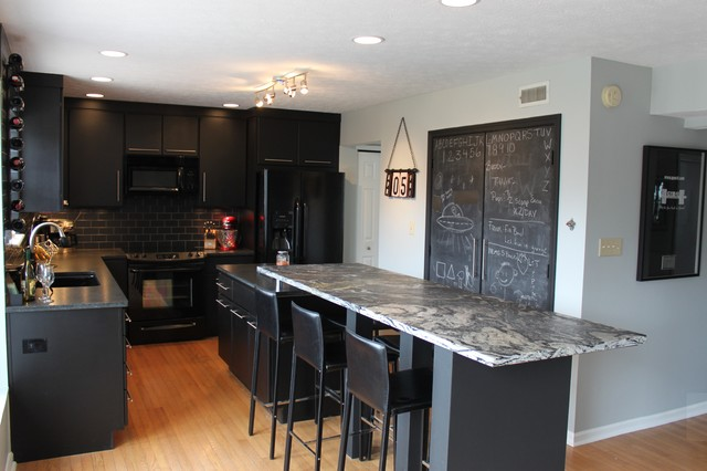 Indianapolis Black Kitchen With Style Contemporary Kitchen Indianapolis By Mince Kitchen