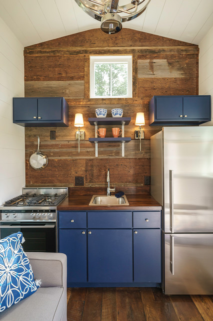 Indigo Tiny Home  Transitional  Kitchen  other metro  by Driftwood