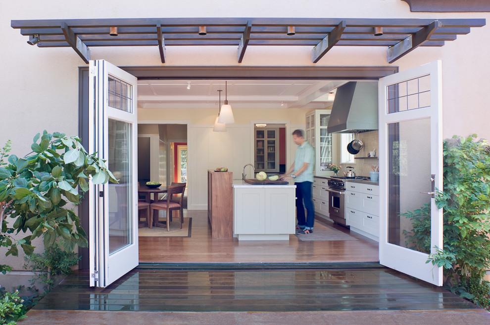 Indoor Outdoor Kitchen Transitional Kitchen San Francisco By Jetton Construction Inc Houzz