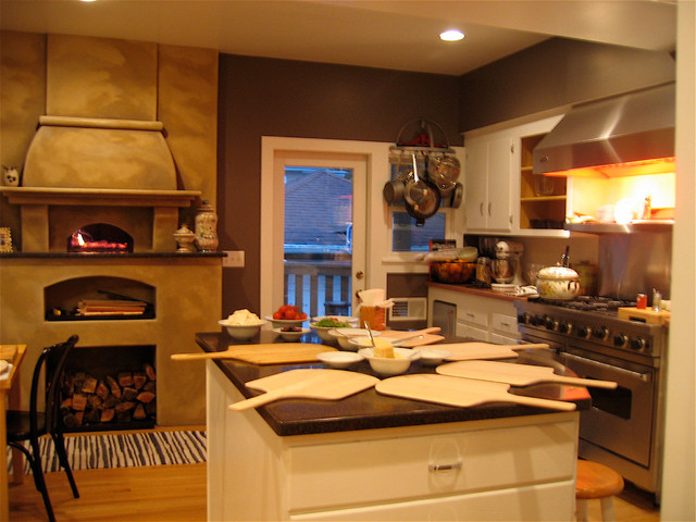 Indoor Wood Fired Pizza Ovens - Mediterranean - Kitchen - other metro - by Mugnaini