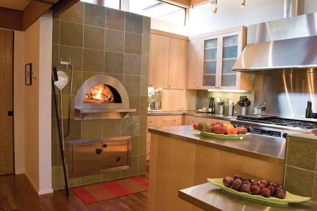 Indoor Wood Fired Pizza Ovensmodern Kitchen San Francisco