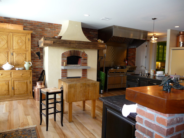 Indoor Wood Fired Pizza Ovens Traditional Kitchen