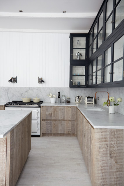 Industrial Chic Scandinavian Kitchen London By