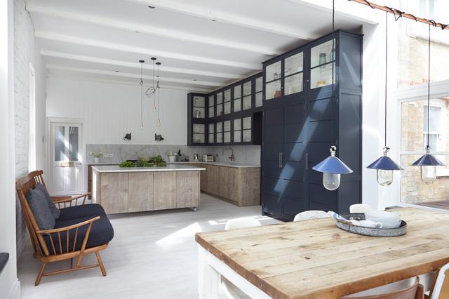 Industrial chic transitional kitchen london by for Al saffar interior decoration l l c