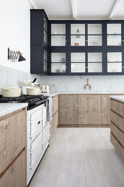 Industrial chic transitional kitchen london by for Kitchen design london