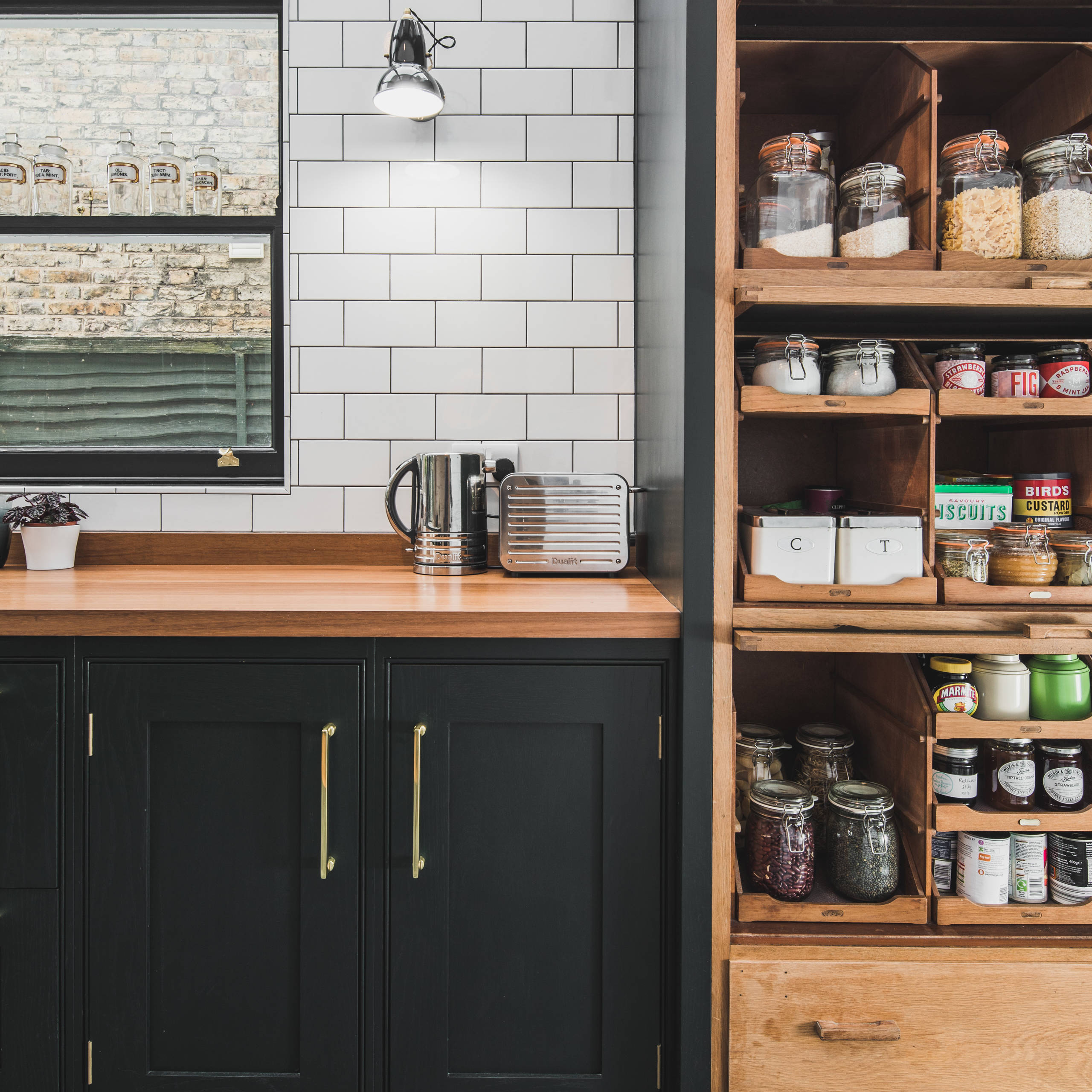 75 Beautiful Kitchen With Green Cabinets And Wood Countertops Pictures Ideas July 2021 Houzz