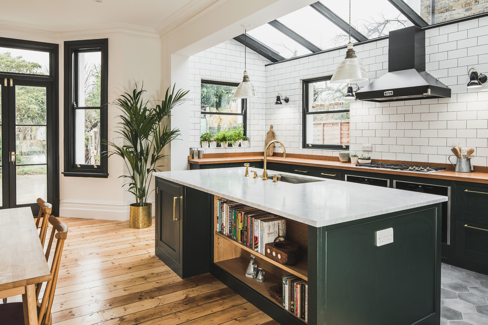 Magnificent Industrial Dark Green Kitchen With A Vintage Twist Beutiful Home Inspiration Ommitmahrainfo