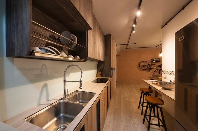 Hdb 4 Room Kitchen Design. Industrial Design  YIshun HDB 4 Room industrial kitchen