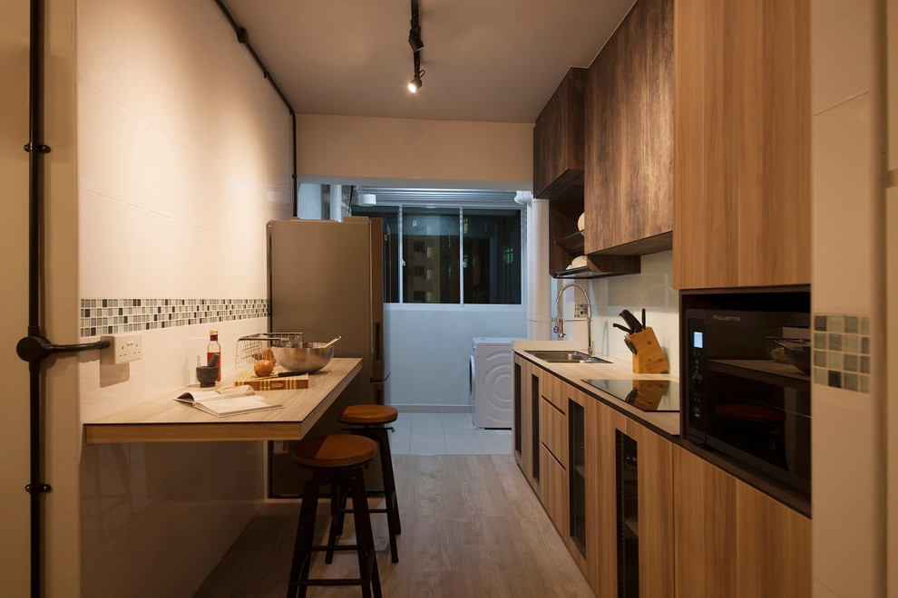 Industrial Design Yishun Hdb 4 Room Industrial Kitchen Singapore By Ace Space Design