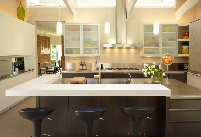 Industrial Elements Contemporary Kitchen Other Metro By Caden Design Group