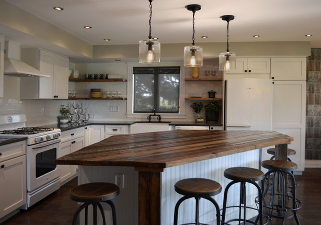 Industrial Farmhouse Industrial Kitchen Chicago By