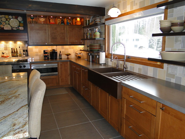 Silver Lake House Industrial Kitchen grand rapids