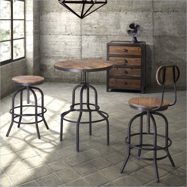 Industrial loft bar furniture - Table bar industriel ...