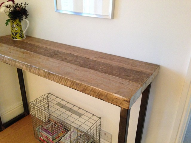 Bon Industrial Mill Reclaimed Wood Breakfast Bar/Console Table  Industrial Kitchen