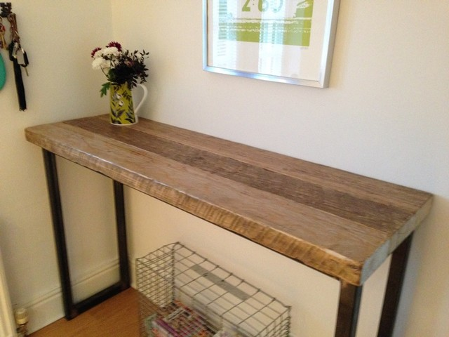 Industrial Mill Reclaimed Wood Breakfast Bar/Console Table  Industrial Kitchen