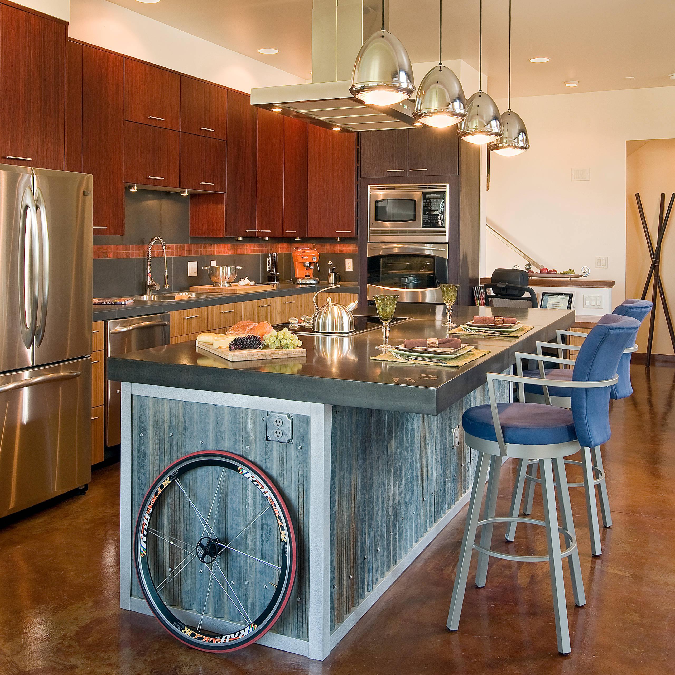 Galvanized Corrugated Metal Kitchen Ideas Photos Houzz