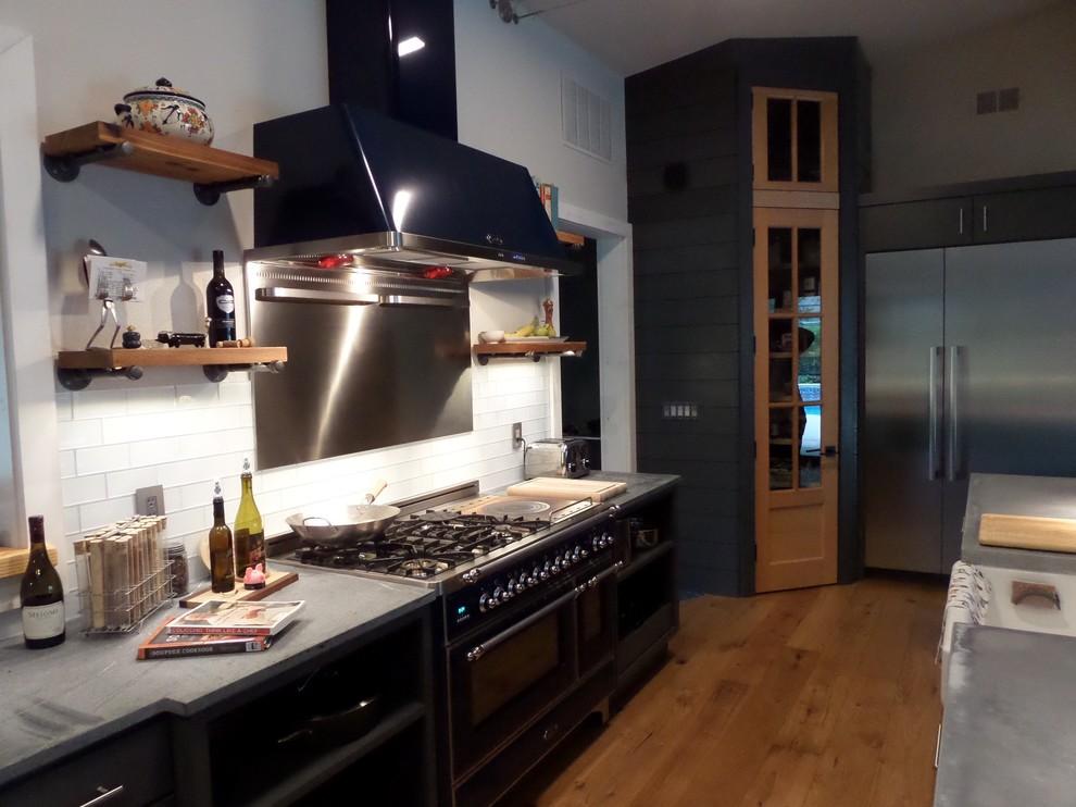 Industrial Modern Kitchen Remodel In Ormond Beach Industrial Kitchen Orlando By Kitchen Design By John S Appliance Bedding