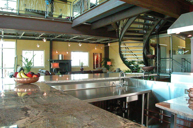 Industrial Mountain Home industrial-kitchen