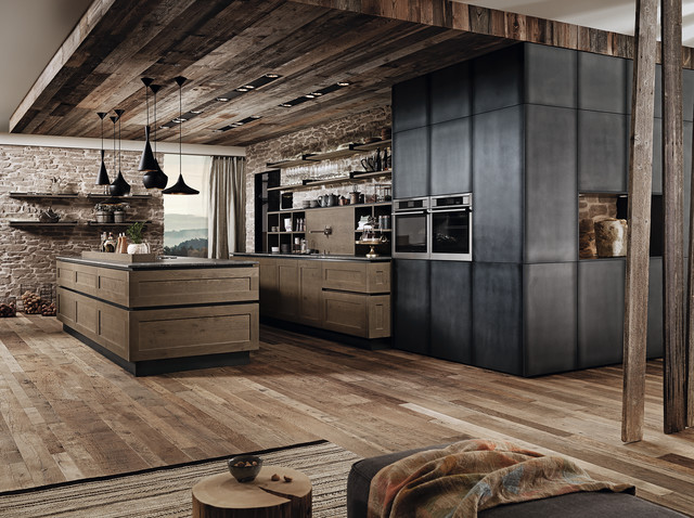 industrial oak kitchen industrial k che miami von. Black Bedroom Furniture Sets. Home Design Ideas