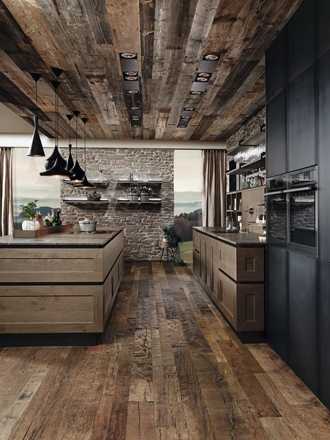 Industrial Oak Kitchen - Industrial - Kitchen - Miami - by ...