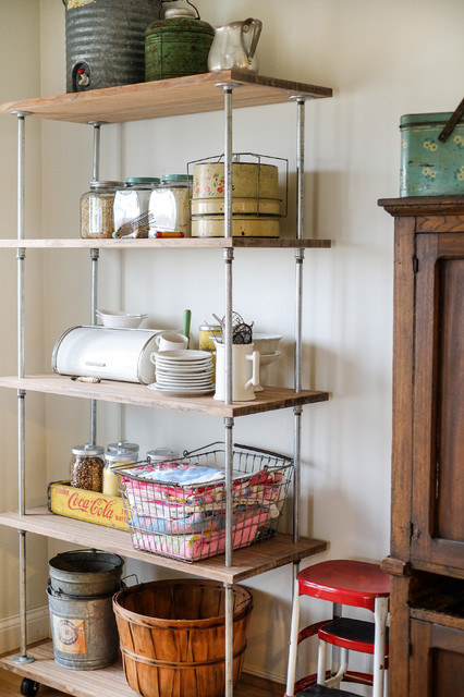 Industrial Shelving DIY - Industrial - Kitchen - Columbus - by Julie Ranee Photography