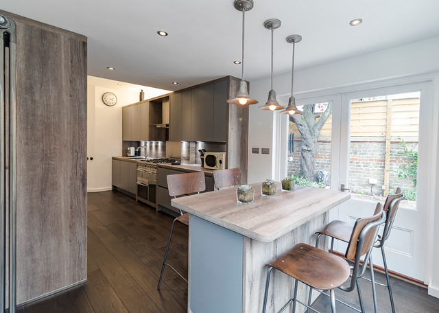 Industrial style kitchen ealing london contemporary for Kitchen ideas ealing