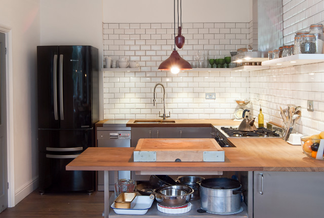 Industrial Style Kitchen In East London