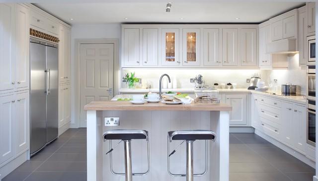 Inframe Hand Painted Kitchen - Transitional - Kitchen - Dublin ...