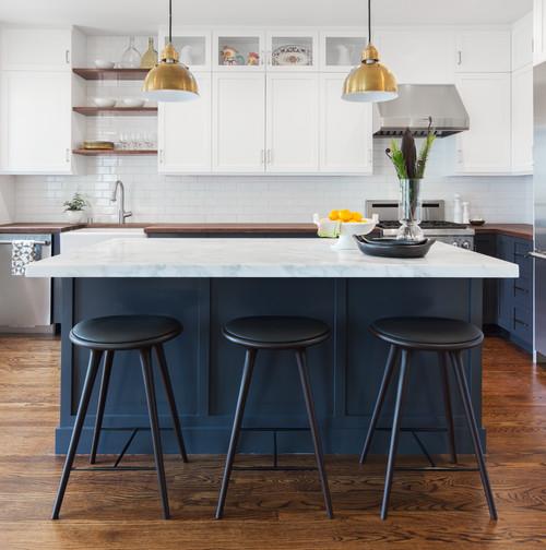 Trend Alert: Navy Blue Cabinets | Interior Design Dallas | Barbara Gilbert Interiors