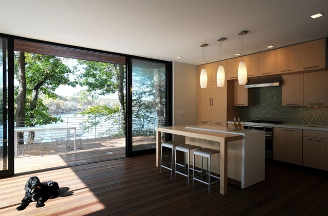 Lake House Kitchen modern kitchen