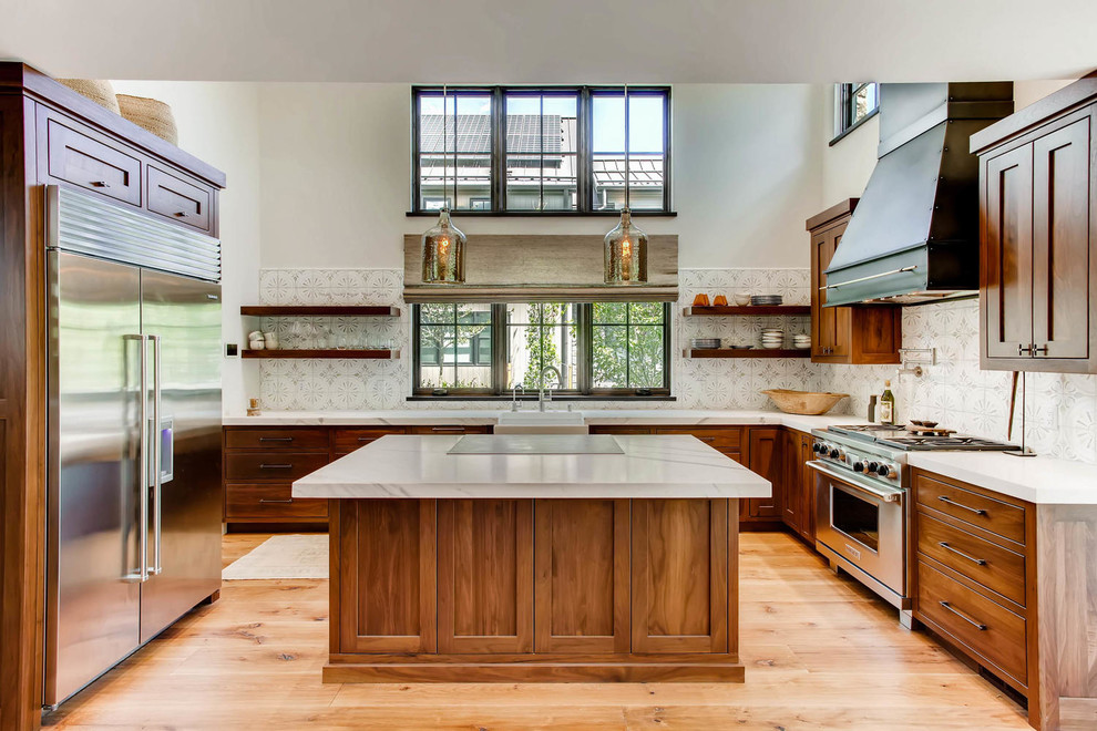 Inset Clear Select Walnut Traditional Kitchen Denver By The Artisan Shop Inc Houzz