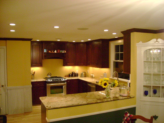 Inset kitchen cabinets cherry cabinetry cliqstudios What color cabinets go with yellow walls