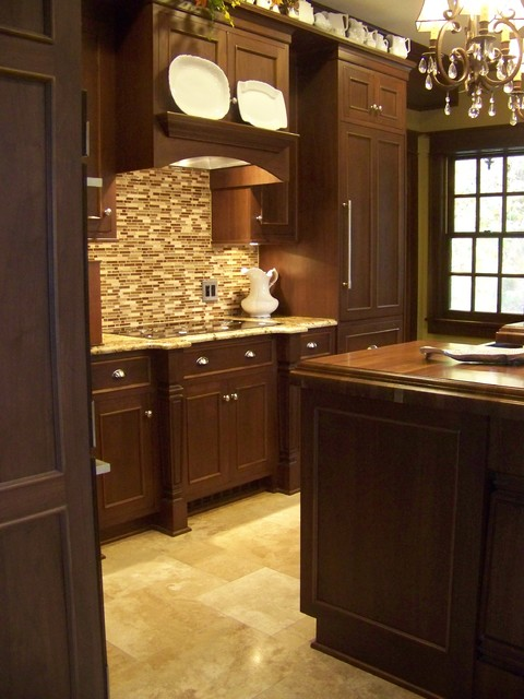Inset Walnut Cabinets - Traditional - Kitchen - other metro - by Young ...