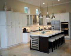 Inspired by the White Sand Beaches of Florida's Gulf Coast contemporary-kitchen