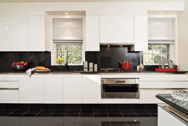 Installation of Idea in Ice White contemporary-kitchen