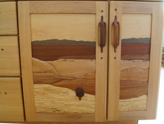 Intarsia doors