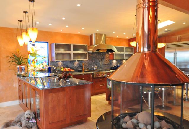 Intercoastal Residence tropical-kitchen