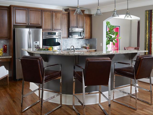 Interior Design Atlanta GA Masculine Townhome Transitional Kitchen Atl
