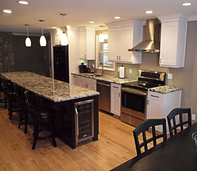 Interior renovation bethel park transitional kitchen for Bethel kitchen designs