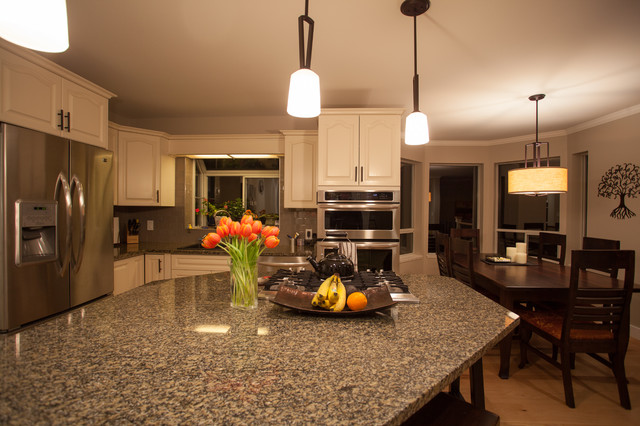 Interior Update & Remodel - 'Family Friendly Contemporary Country' traditional-kitchen