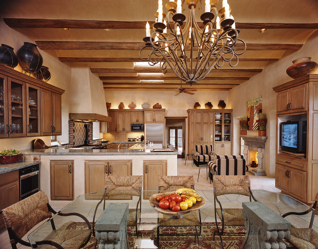 Interiors New Mexico Santa Fe Style Mediterranean Kitchen